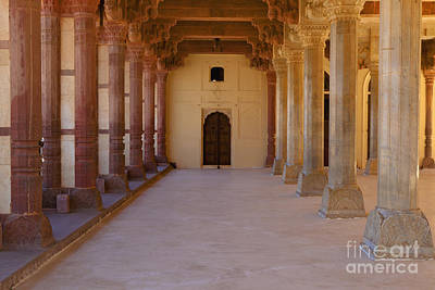 Pillars In Amber Fort Art Print by Inti St. Clair