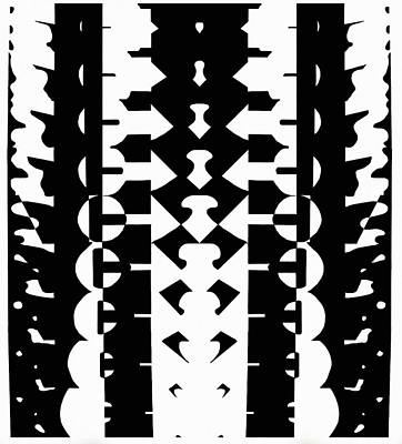 Pillars Of Gradation Art Print by Nicholas Vermes