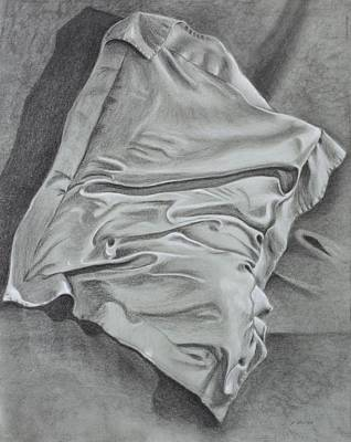 Art Print featuring the drawing Pillow Talk by Patsy Sharpe