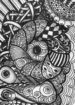 Drawing - Pillows by Paula Greenlee