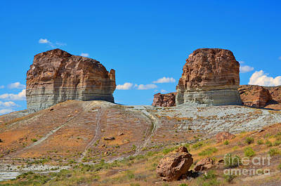 Photograph - Pilot Butte Rock Formation Iv by Donna Greene