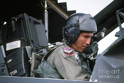 Cockpit Photograph - Pilot Sits In The Cockpit Of A F-117a by Stocktrek Images