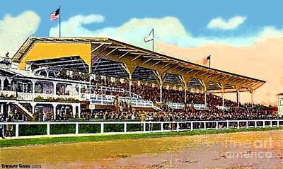 Painting - Pimlico Racetrack Grandstand In Baltimore Md by Dwight Goss