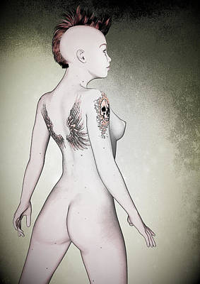 Digital Art - Pin-up No. 5 by Maynard Ellis
