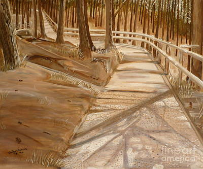 Painting - Pine Forest Walk by Judy Morris