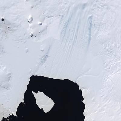 Break Fast Photograph - Pine Island Glacier, Satellite Image by Nasa