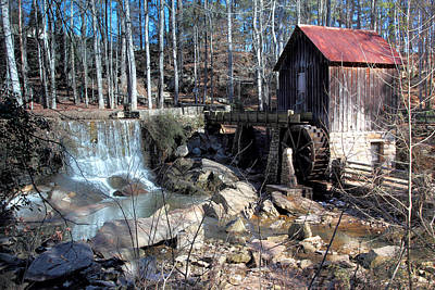 Pine Run Mill Art Print by Rick Mann