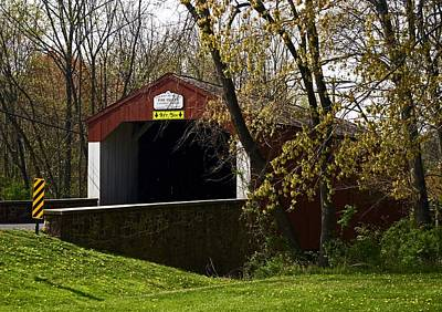 Photograph - Pine Valley Covered Bridge by Elsa Marie Santoro