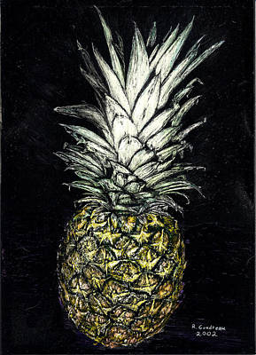Painting - Pineapple by Robert Goudreau