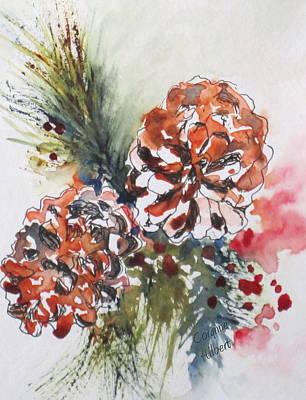 Pinecone Garland Art Print by Corynne Hilbert