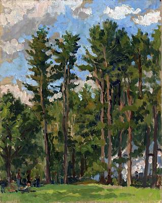 Brahms Painting - Pines At Tanglewood by Thor Wickstrom