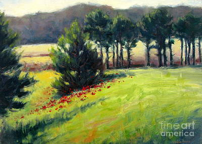 Painting - Pines On The Hill by Vickie Fears