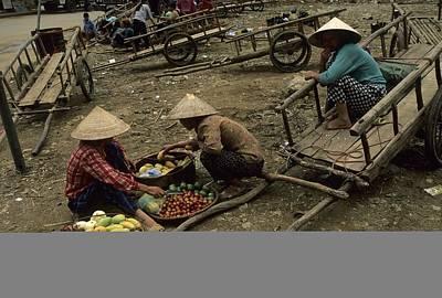 Pingxiang Street Scene, Hand Carts Print by Raymond Gehman
