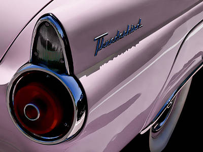 Thunderbird Digital Art - Pink 1955 T-bird by Douglas Pittman