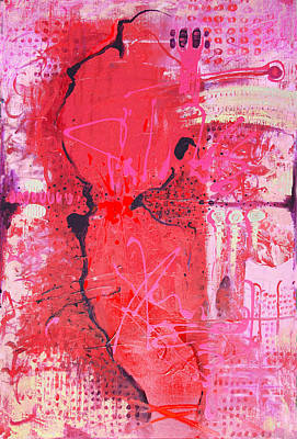 Art Print featuring the painting Pink Abstract by Lolita Bronzini