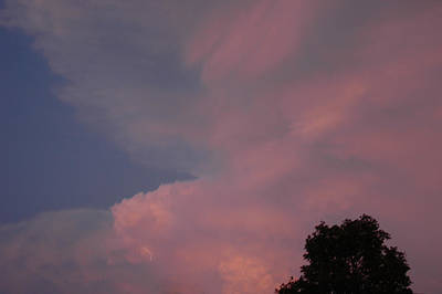 Pink And Blue Sky Art Print by LeeAnn McLaneGoetz McLaneGoetzStudioLLCcom