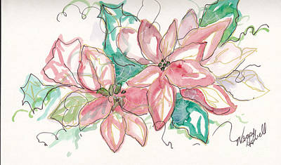 Pink And Green Original by Michele Hollister - for Nancy Asbell