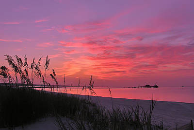 Pink And Purple Dawn Print by Brian Wright