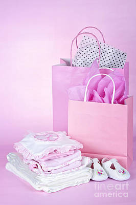 Pink Baby Shower Presents Art Print by Elena Elisseeva