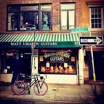 Cycling Wall Art - Photograph - Pink Bicycle - New York City by Vivienne Gucwa