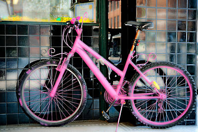 Photograph - Pink Bicycle by Johnny Sandaire