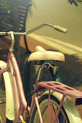 Women Painting - Pink Bike by Shelley Bain