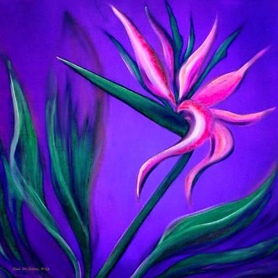 Gina Gray Painting - Pink Bird Of Paradise by Gina De Gorna