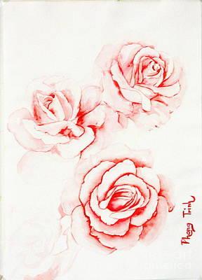 Phong Trinh Painting - Pink Bloom Magic by Phong Trinh