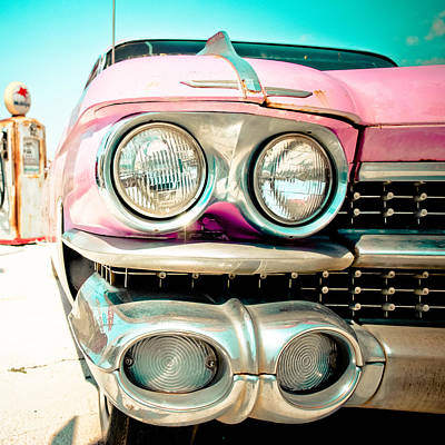 Photograph - Pink Cadillac by David Waldo