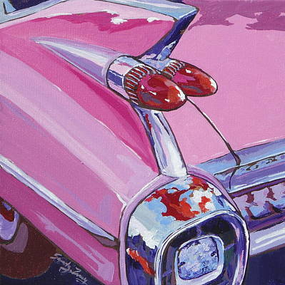 Painting - Pink Cadillac by Sandy Tracey