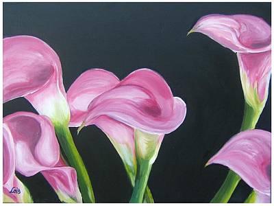 Pink Calla Lily's Art Print