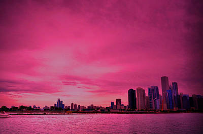 Photograph - Pink Chicago by Emily Stauring