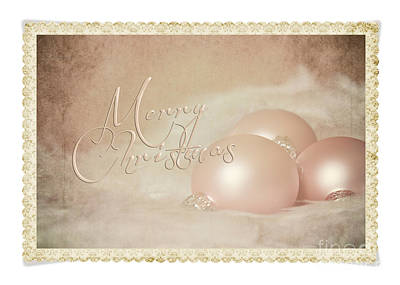 Photograph - Pink Christmas Ornaments Framed by Pam  Holdsworth