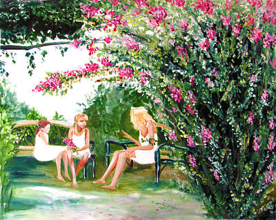 Painting - Pink Crepe Myrtle by Laura Rispoli