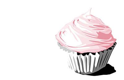 Bakery Digital Art - Pink Cupcake by Jay Reed