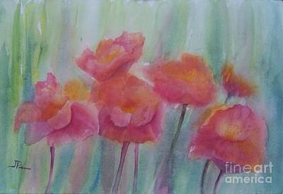Wall Art - Painting - Pink Dances by Judy Parins