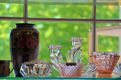 Photograph - Pink Depression Glass by Jan Amiss Photography