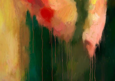 Drips Painting - Pink Drips by Michael Pickett