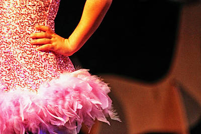 Pink Feather Skirt Art Print