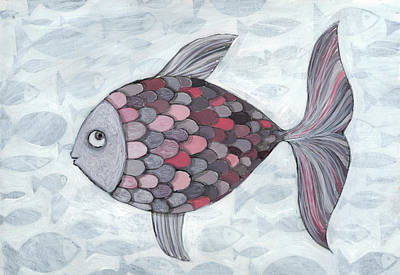 Multi Colored Photograph - Pink Fish by Georgiana Chitac