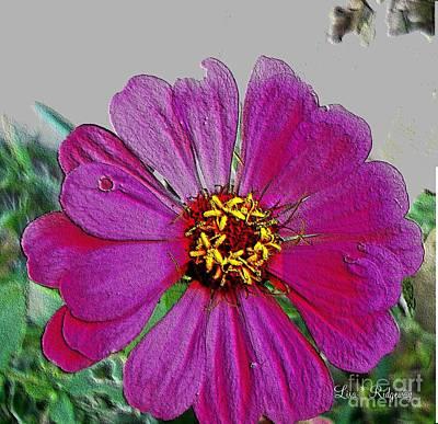 Pink Flower Art Print by Lisa  Ridgeway