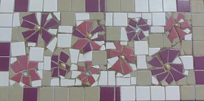 Photograph - Pink Flower Mosaic by Lou Ann Bagnall