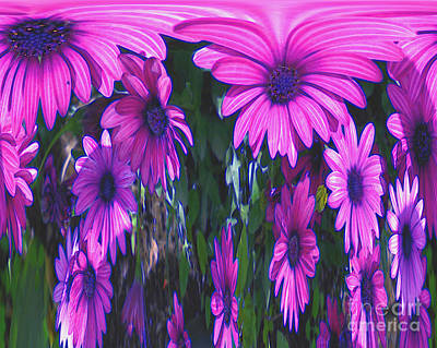 Pink Flower Power Art Print