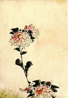 Pink Flowers 1840 Art Print