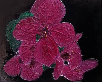 Pink Flowers Art Print by Angela Stout