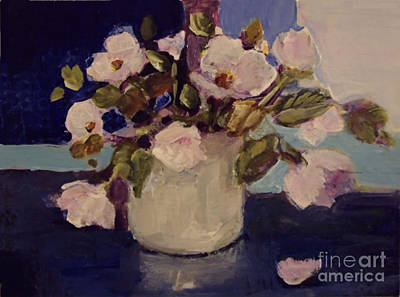 Painting - Pink Flowers by Diane Ursin