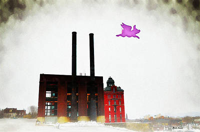 Pink Pigs Photograph - Pink Floyd Animals - Wilkes Barre by Bill Cannon