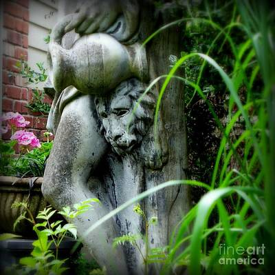 Art Print featuring the photograph Pink Geraniums And Bacchus by Tanya  Searcy