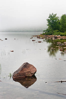 Pink Granite In Jordan Pond At Acadia Original by Steve Gadomski