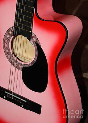 Photograph - Pink Guitar by Carol Groenen